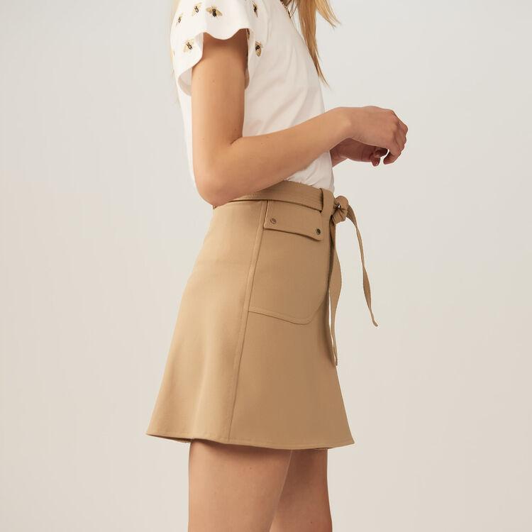 Rock mit Gürtel zum Knoten : Röcke & Shorts farbe Camel