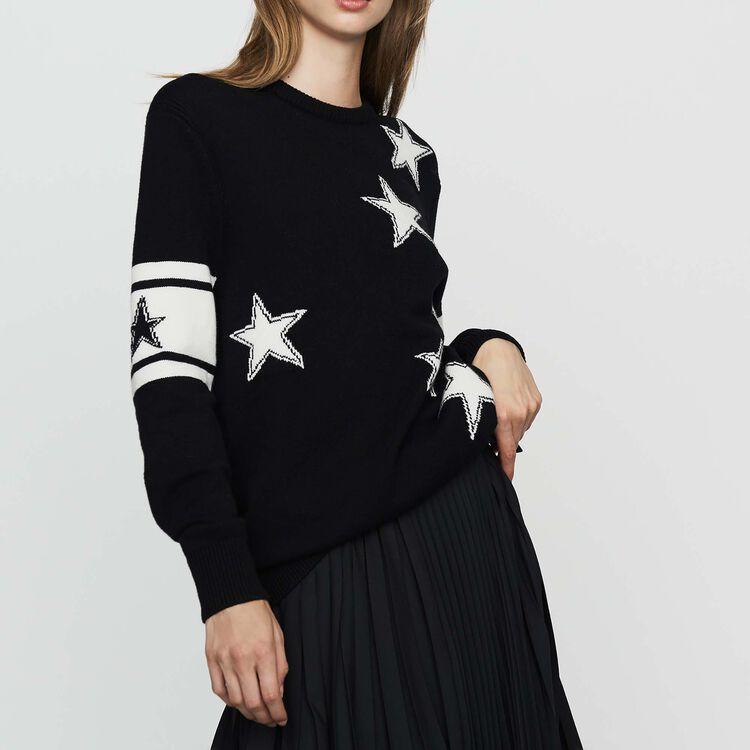 Zweifarbiger Pullover : Neue Kollektion farbe Schwarz