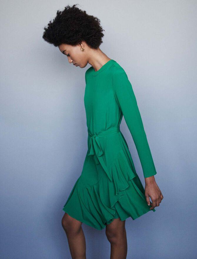 Asymmetrisches Krepp Kleid - SoldesFR_40 - MAJE