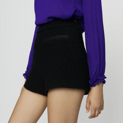 Tweed-Short mit hohem Bund : Röcke & Shorts farbe Schwarz