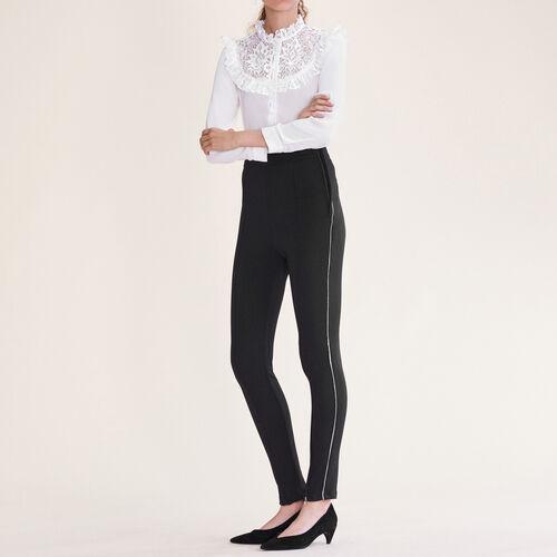Leggings mit mehreren Reißverschlüssen : Hosen und Jeans farbe Schwarz