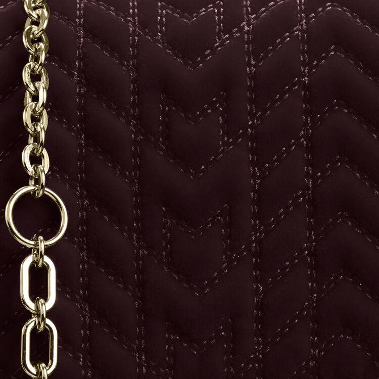 Abendtasche aus gestepptem Velours : -40% farbe BORDEAUX