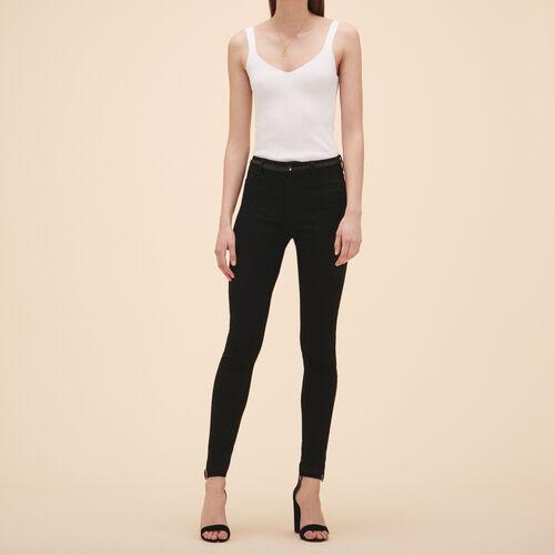 Slim-Jeans aus Baumwolle : Jeans farbe Schwarz