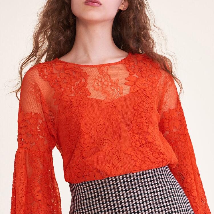 Top aus Spitze : Tops farbe Orange