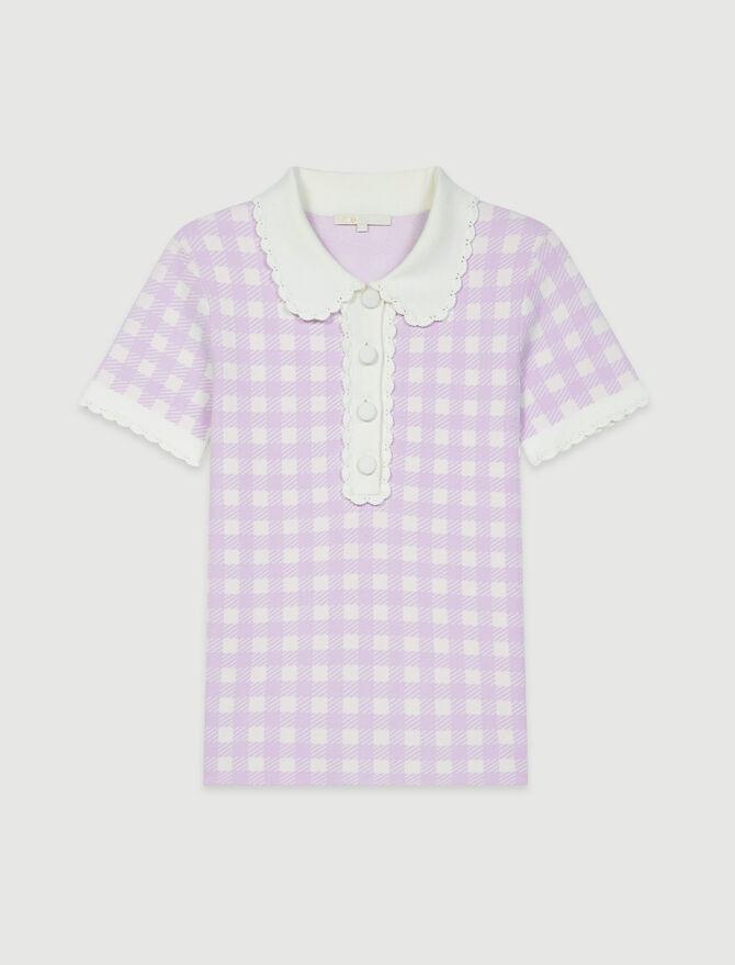 Jacquard-Pullover im Polo-Stil - Pullover & Strickjacken - MAJE