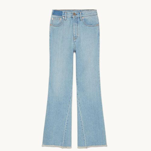 Ausgestellte Jeans aus Baumwolle - null - MAJE