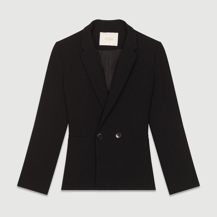 Kurze Jacke im Anzugstil : Blazers farbe Schwarz