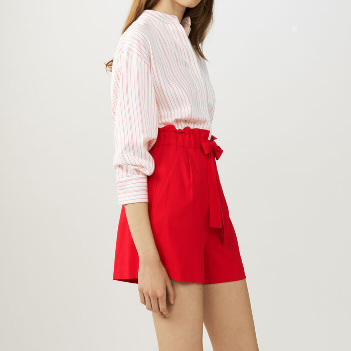 Krepp-Short mit Gürtel : Röcke & Shorts farbe Rot