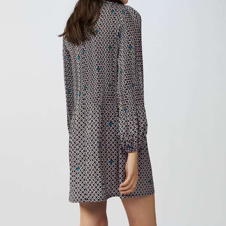 Pleated printed dress : Kleider farbe IMPRIME
