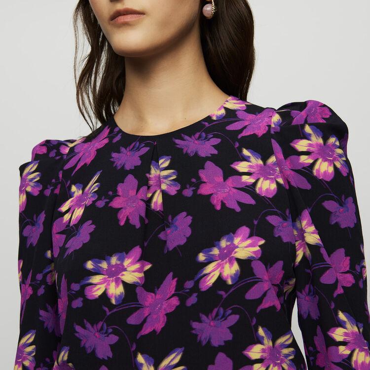 Krepp-Top mit floralem Print : Tops farbe Print