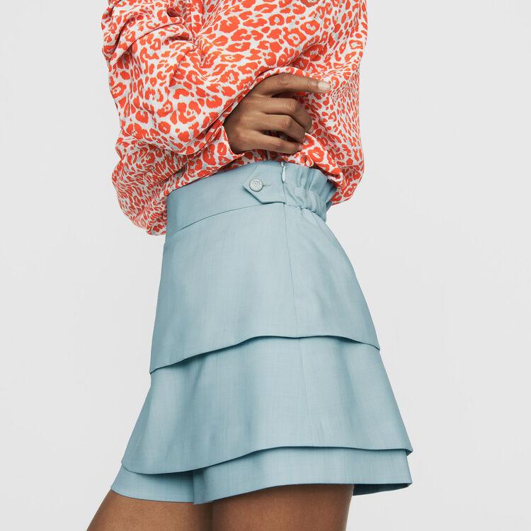 Trompe-l'œil-Short : Bekleidung farbe Himmelblau