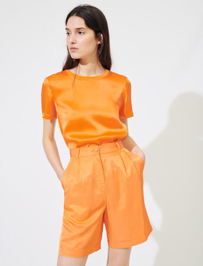 Ausgestellte seidige Shorts - Röcke & Shorts - MAJE