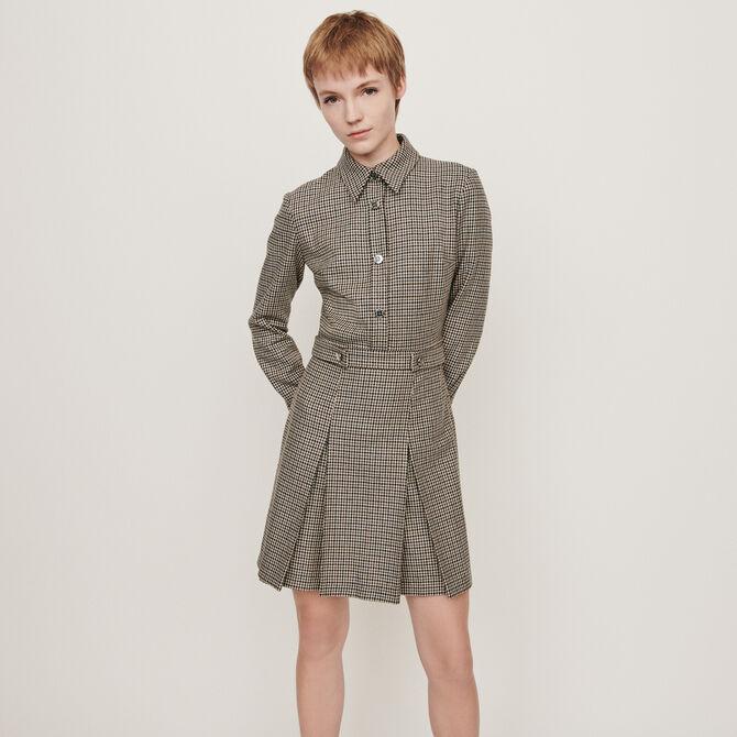 Karierter Jacken-Stil Mantel -  - MAJE