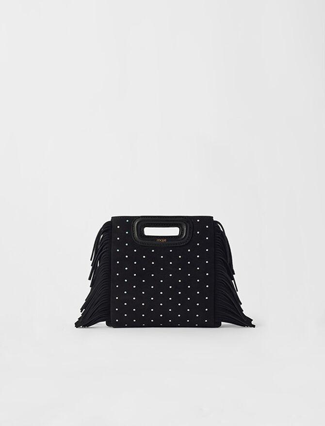 M Mini-Wildledertasche mit runden Nieten - M Tasche - MAJE