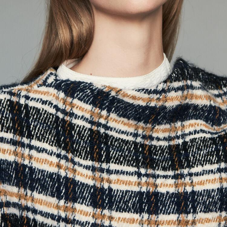 Mantel im Poncho-Stil in Tartan-Muster : Mäntel farbe CARREAUX