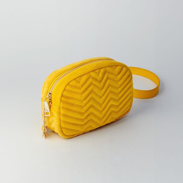 Umhängetasche aus Velour : Sami bag farbe Gelb