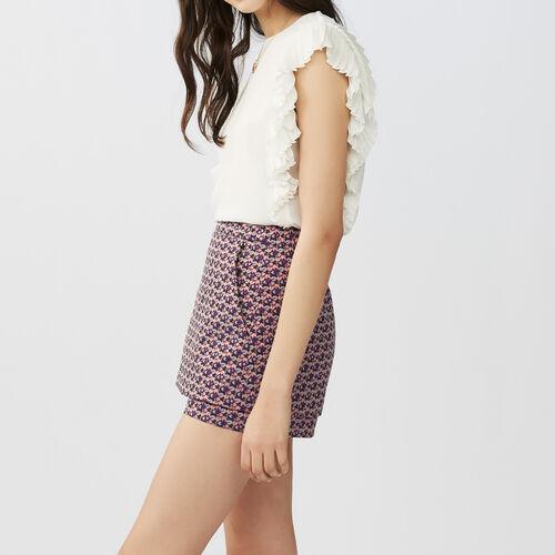 Asymmetrisches gestreiftes Hemdkleid : Röcke & Shorts farbe Jacquard