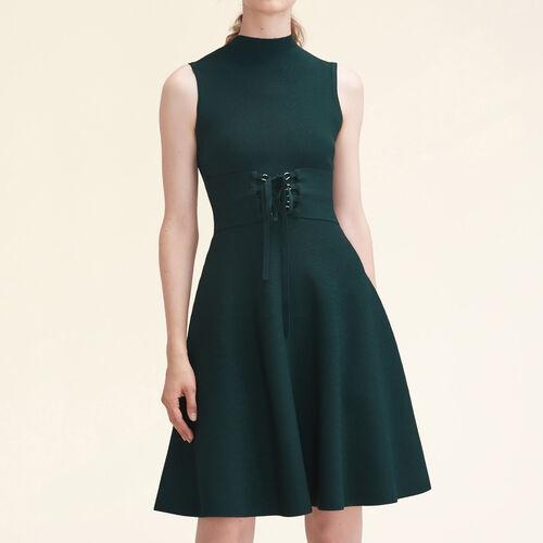 Ärmelloses Kleid aus Stretchstrick - Kleider - MAJE