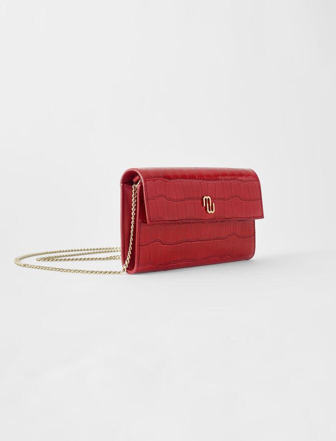 Brieftasche in Kroko-Optik mit Kette - Die ganze Kollektion - MAJE
