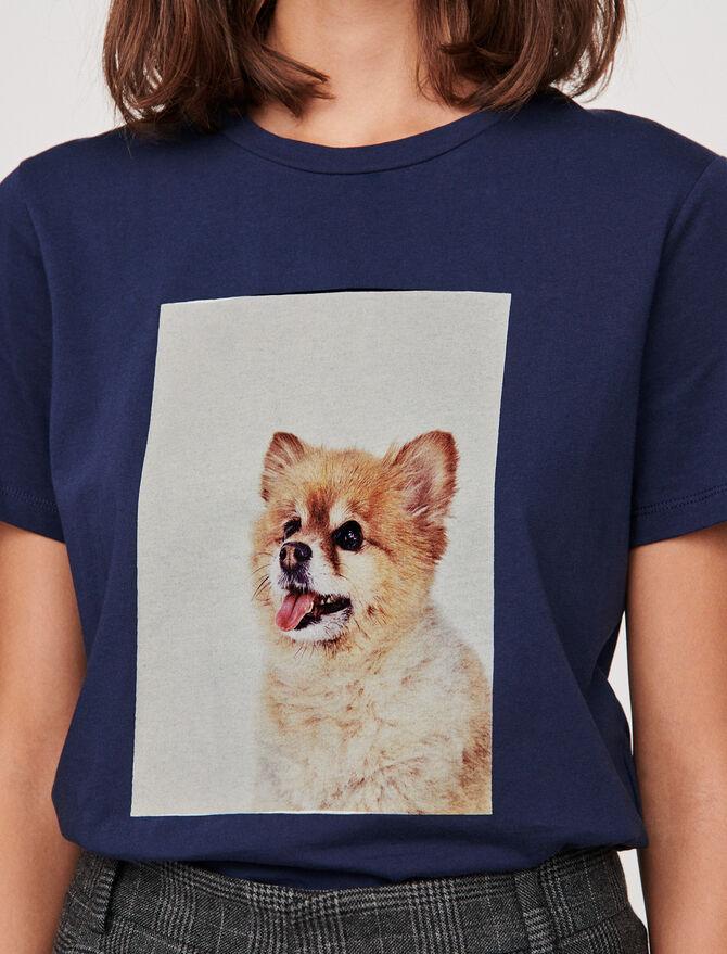 T-Shirt mit Hundprint -  - MAJE