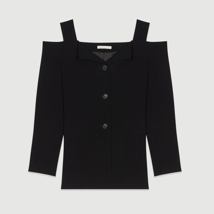 Schulterfreie Jacke : Blazers farbe Schwarz