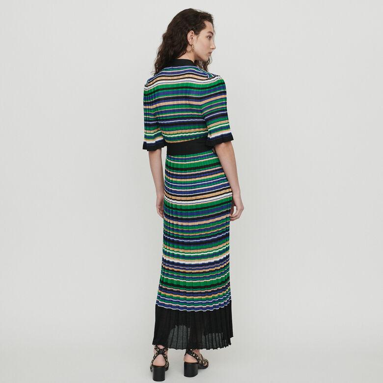 designer fashion 93928 f1461 Langes Strickkleid mit Streifen