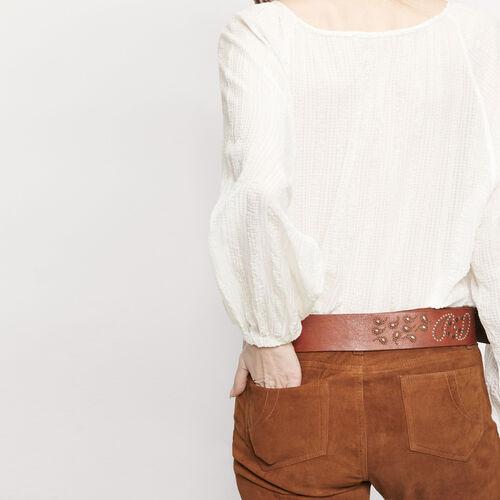 Hose aus Ziegenveloursleder : Hosen und Jeans farbe Camel