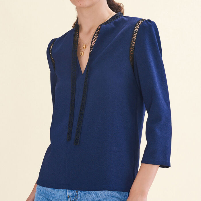 Bluse mit Borte - Hemden - MAJE
