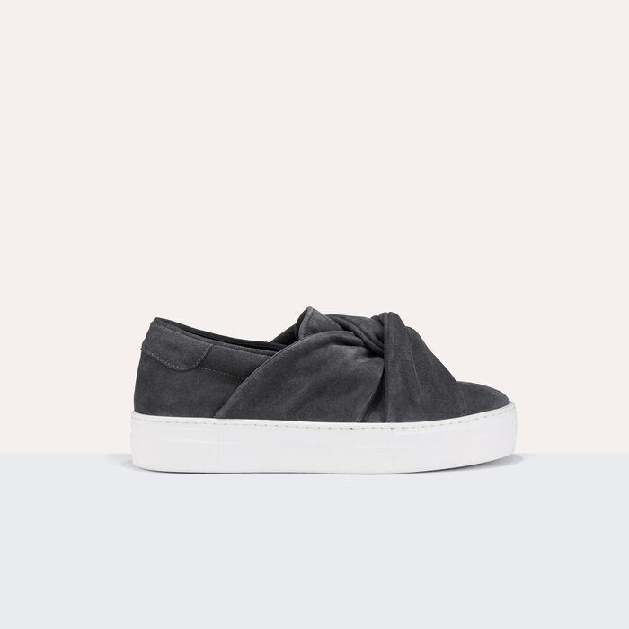 flow sneaker aus veloursleder mit schleife schuhe. Black Bedroom Furniture Sets. Home Design Ideas