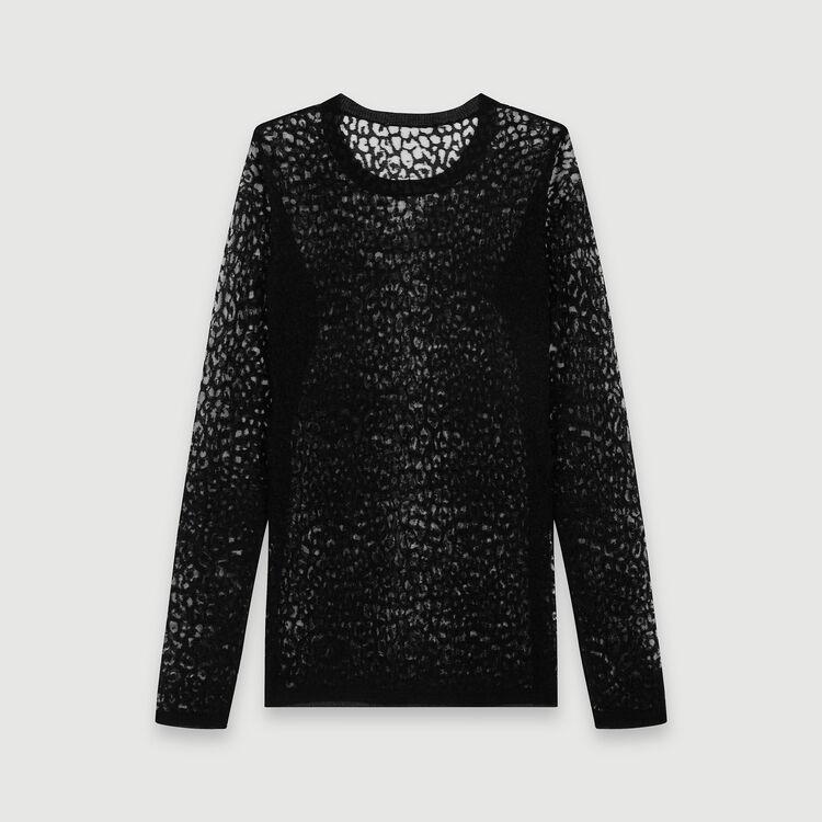 Geflammtes T-Shirt : Pullover & Strickjacken farbe Schwarz