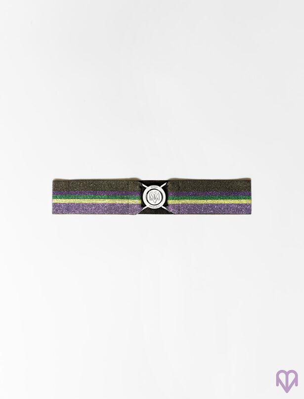 마쥬 MAJE Elastischer Guertel mit Lurex-Streifen,Mehrfarbigen