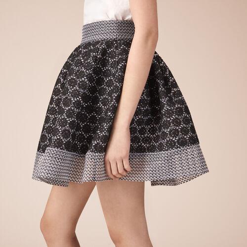 Eislauf-Rock aus Strick : Röcke und Shorts farbe Schwarz