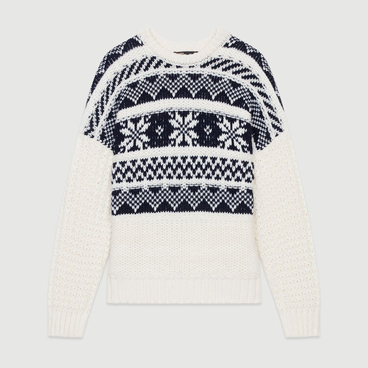 Pullover aus Jacquard-Strick : Bekleidung farbe ECRU