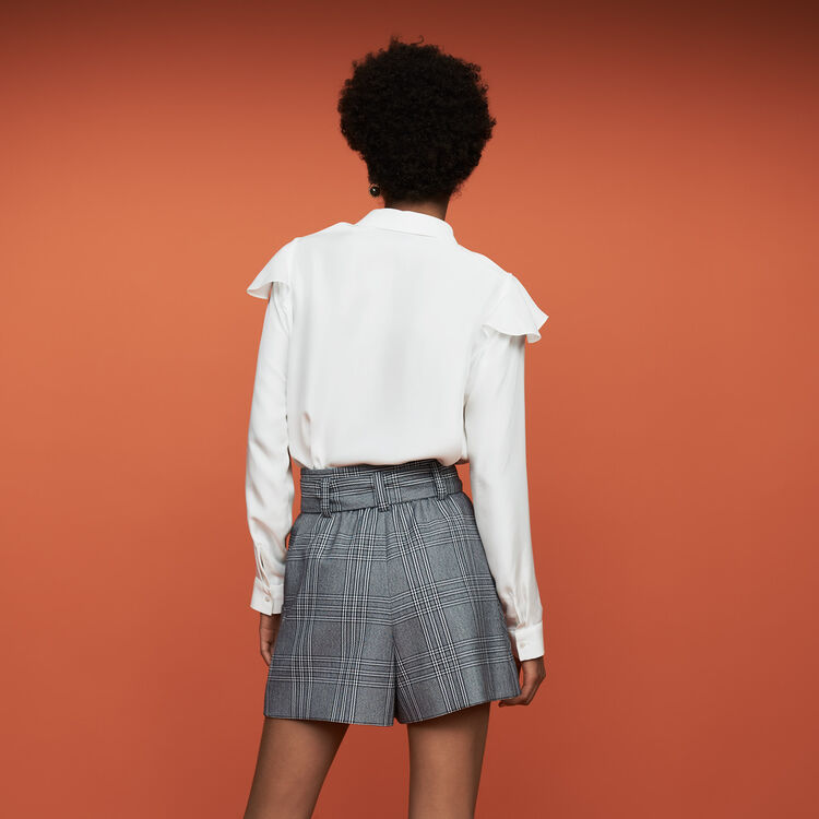 Seidenbluse mit Volants : Neue Kollektion farbe Weiss