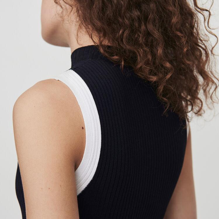 Kurzärmeliger Pullover mit Streifen : Pullover & Strickjacken farbe Schwarz