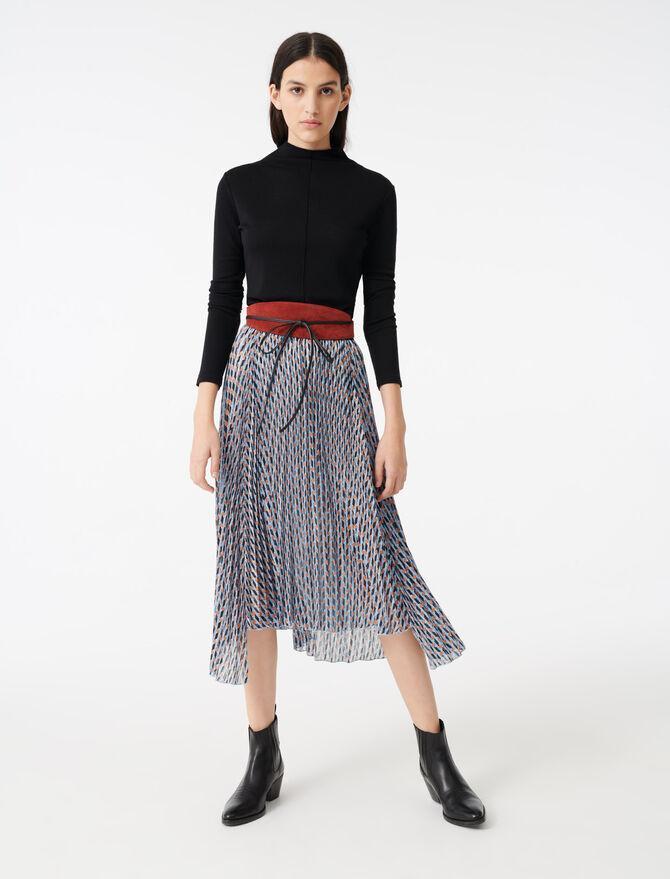 Rock aus Jacquard und bedrucktem Lurex - Röcke & Shorts - MAJE