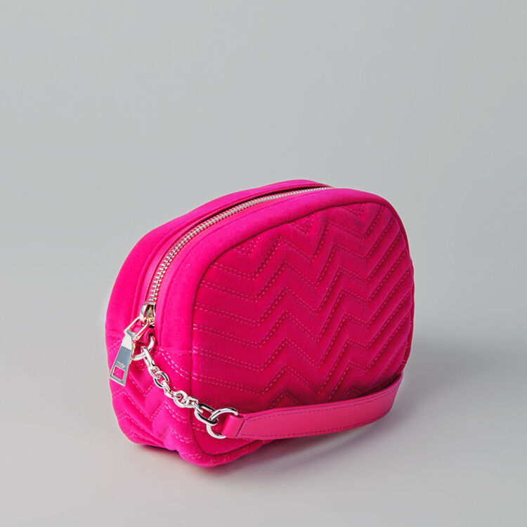 Umhängetasche aus Velour : Sami bag farbe Rosa