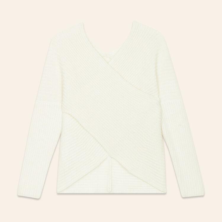 Überkreuzter Pullover aus Strick : Pulls & Cardigans farbe Ecru
