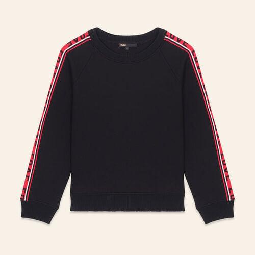 Sweatshirt aus Neopren mit Streifen : Urban farbe Schwarz