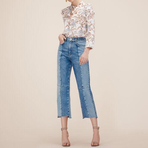 Gerade Jeans aus verwaschenem Denim : Hosen und Jeans farbe Blau