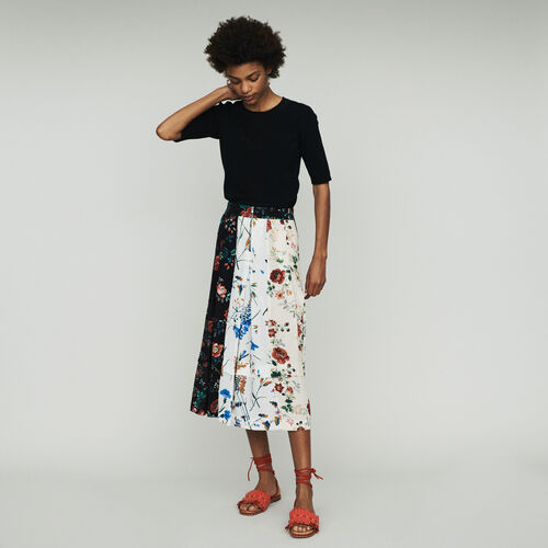Halblanger ausgesteller Rock : Röcke & Shorts farbe Print