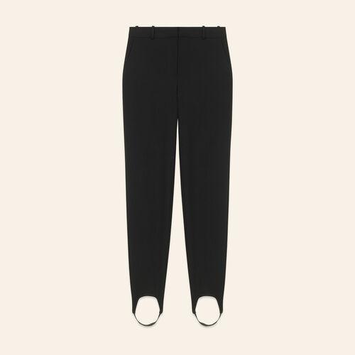 Crêpe-Steghose : Pantalons & Jeans farbe Schwarz