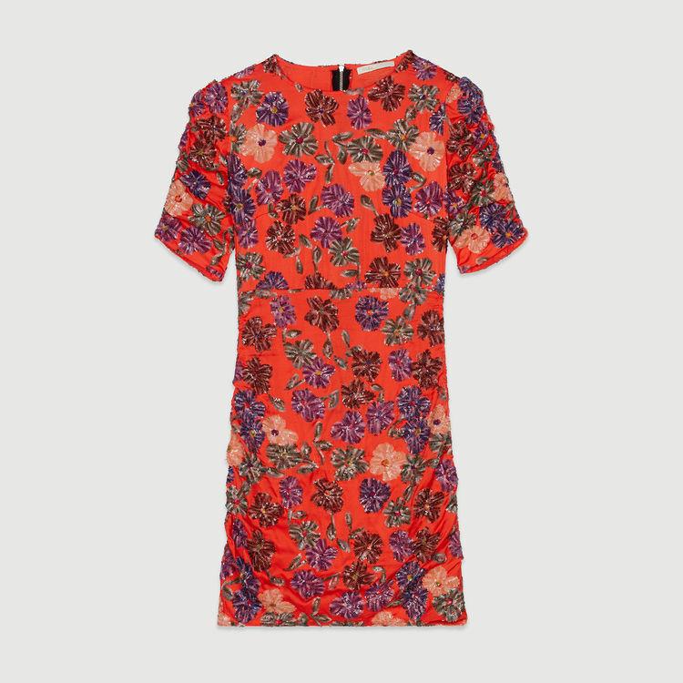 Pailletten-Kleid : Kleider farbe Koralle