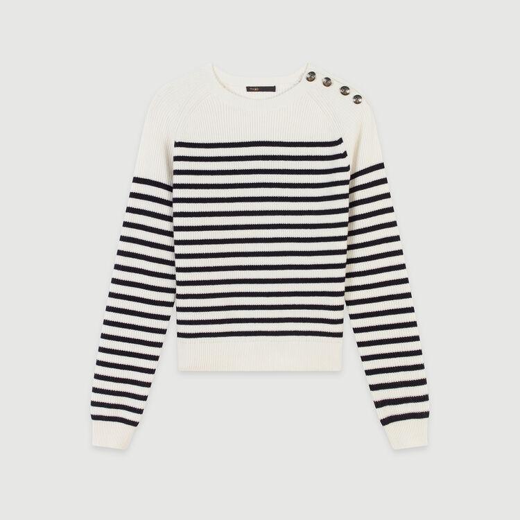 Pullover mit Streifen Muster : Pullover & Strickjacken farbe Ecru
