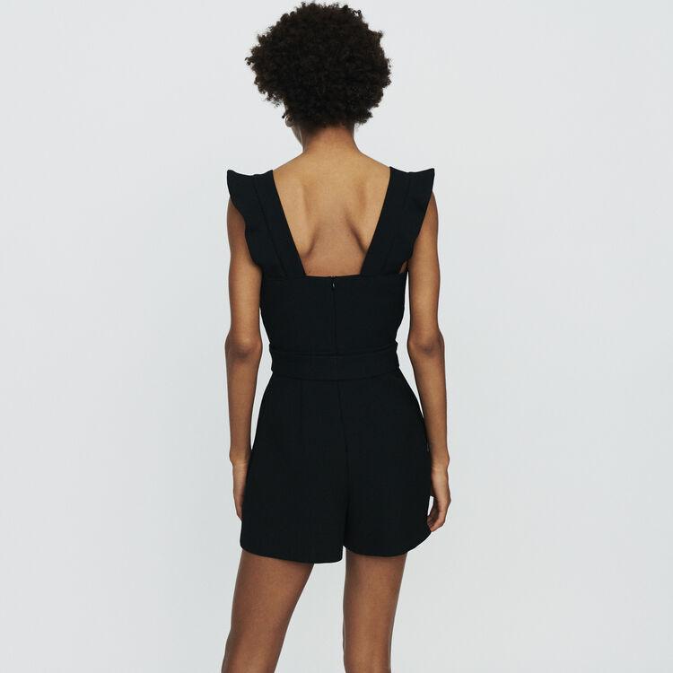 Jumpshort aus Krepp : Röcke & Shorts farbe Schwarz