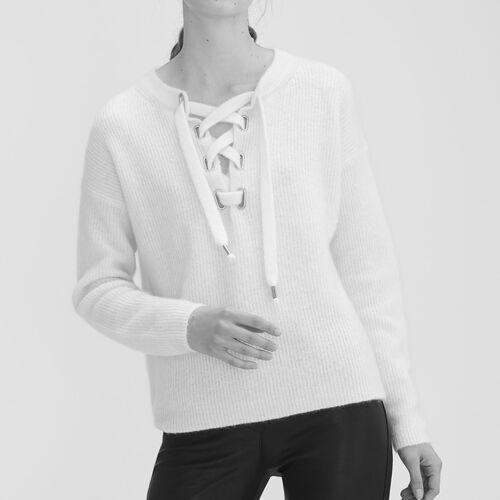 Weiter Pullover aus Mohair - Strickwaren - MAJE