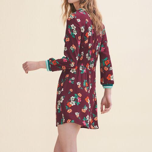 Fließendes Kleid mit Retroprint - Kleider - MAJE