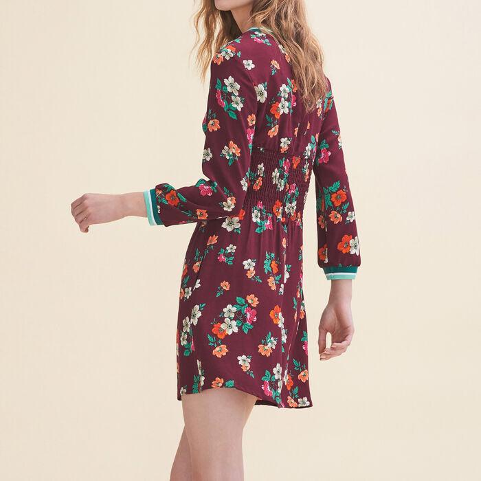 Fließendes Kleid mit Retroprint : Robes farbe Print