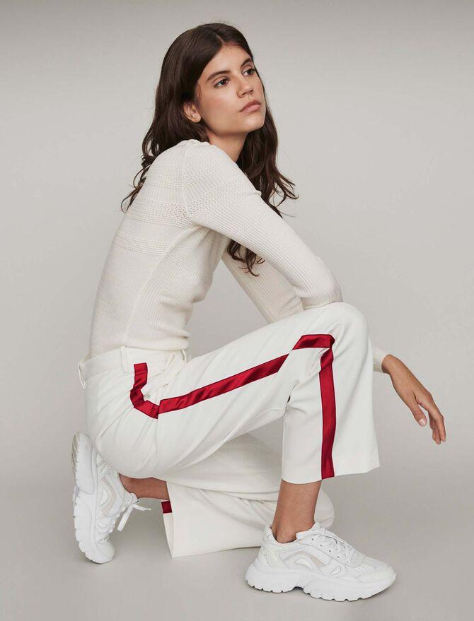 Weite Hose mit Streifen - Hosen & Jeans - MAJE