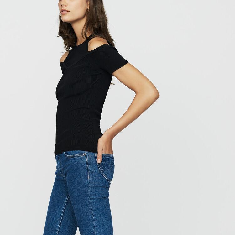 Schulterfreies T-Shirt : Neue Kollektion farbe Schwarz